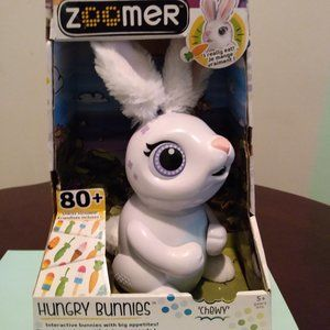 Kids toy, by Zoomer is the bunny Chewy.